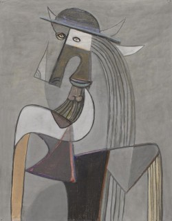 Wifredo Lam, Personaje con sombrero (Personage with Hat), c. 1942, gouache on paper, The Brillembourg Capriles Collection of Latin American Art. © 2013 Artists Rights Society (ARS), New York / ADAGP, Paris