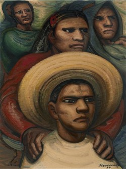 David Alfaro Siqueiros, El reto (The Challenge), 1954, pyroxylin on Masonite, The Brillembourg Capriles Collection of Latin American Art. © 2013 Artists Rights Society (ARS), New York / SOMAAP, Mexico City