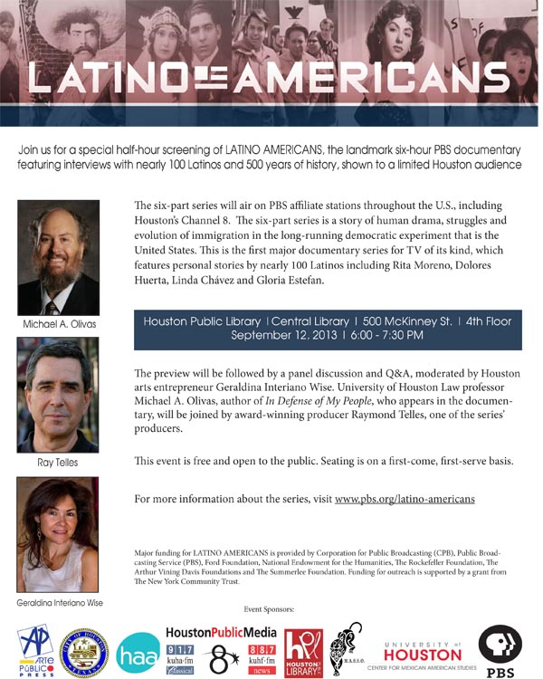 "Preview Screening of Documentary Film ""Latino Americans"" on September 12th"
