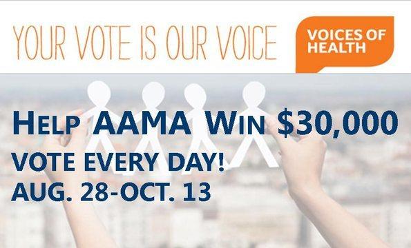 Help AAMA win $30,000