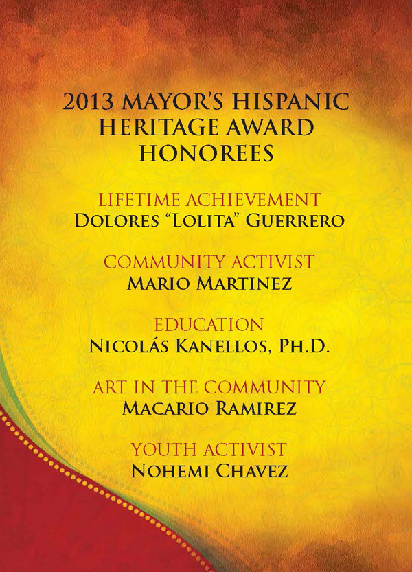 2013.10 Mayor's Hispanic Hertiage Award 1