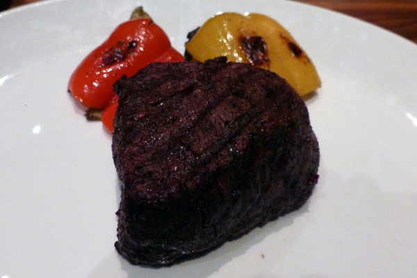 The photo doesn't do justice to the melt-in-your-mouth tenderness of this steak.