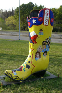 "Boot ""exhibit"" in Houston, circa 2007."