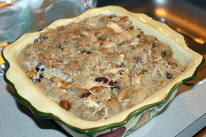 Capirotada (bread pudding) is a must for any Easter.