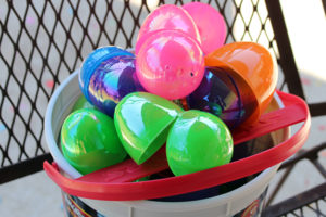 We also have the treat-filled plastic eggs for the kiddo. A few are even stuffed with money!