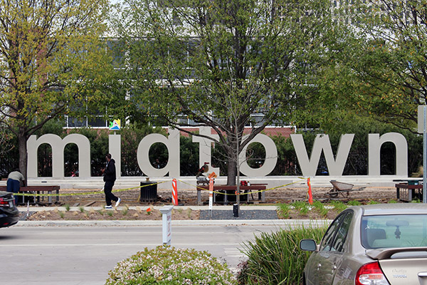Midtown Houston — a new sign