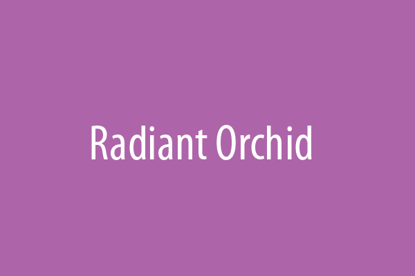 Radiant Orchid is the 2014 color of the year