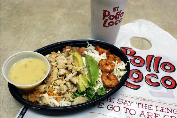 El Pollo Loco food, February 2015.