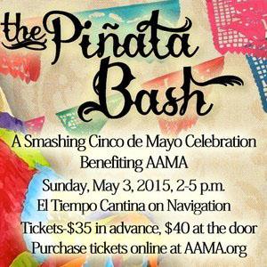 Celebrate Cinco de Mayo at AAMA's Piñata Bash on Sunday, May 3, 2015