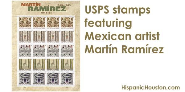 USPS stamps featuring Mexican artist Martín Ramírez