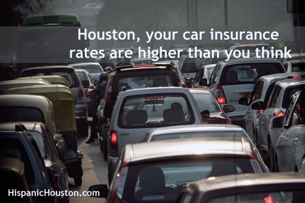 Houston's other high cost of owning a car ... car insurance! (more info at www.hispanichouston.com)