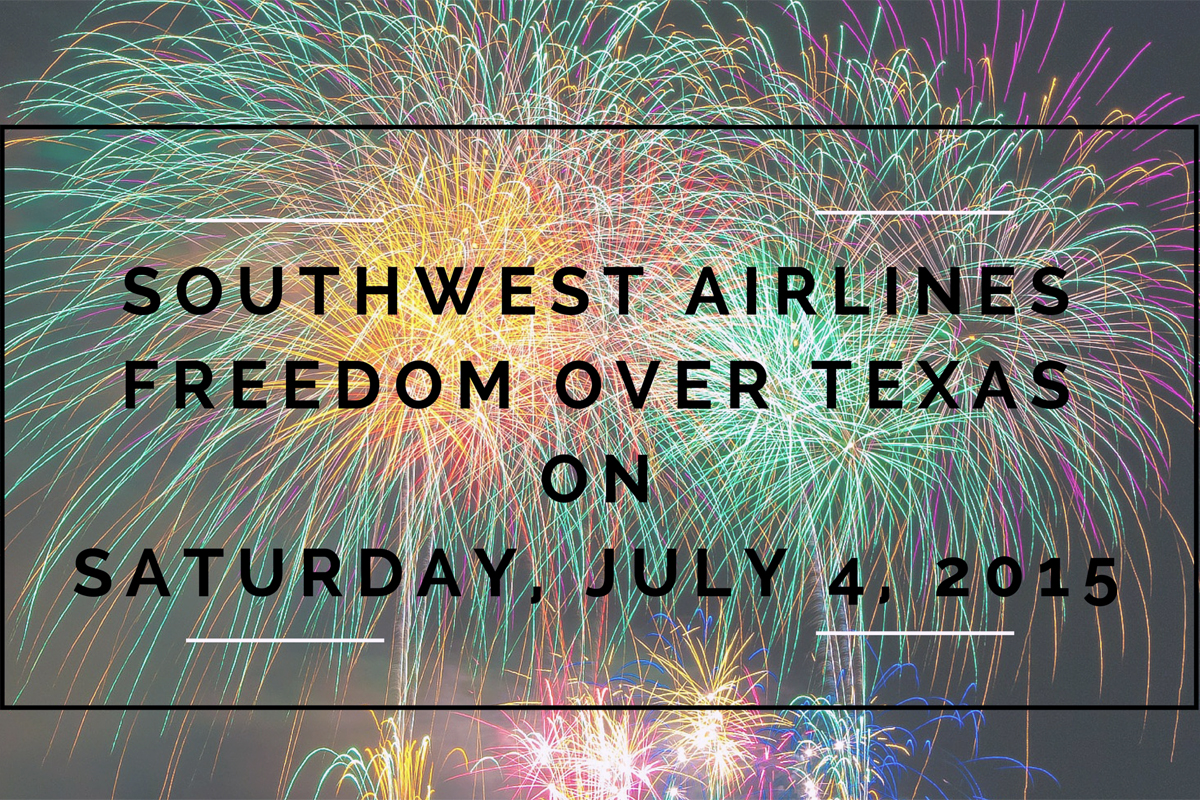 Southwest Airlines Freedom Over Texas on Saturday, July 4, 2015