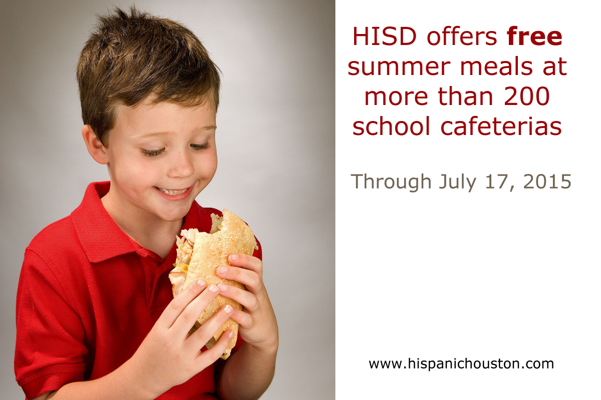 HISD to offer free summer meals at more than 200 school cafeterias