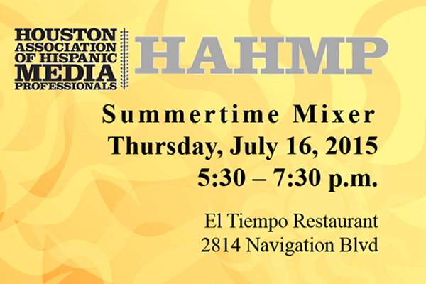 HAHMP Summertime Mixer on Thursday, July 16, 2015