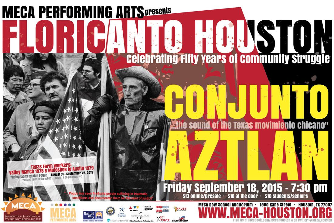 Floricanto Houston with Conjunto Aztlan on Friday, September 18, 2015