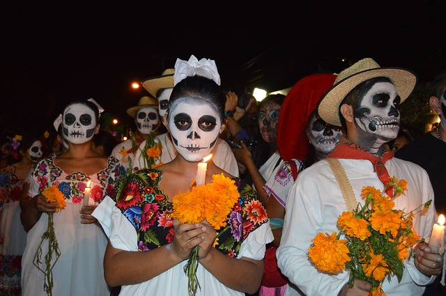 Dia de los Muertos Altar Reception and Procession at Casa Ramirez on Saturday, October 31, 2015