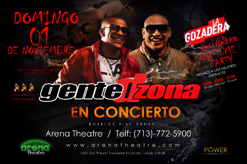 Gente de Zona in concert at Arena Theatre on Sunday, November 1, 2015