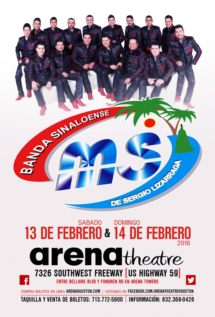 Banda MS in concert at Arena Theatre on Saturday, February 13, 2016 & Sunday, February 14, 2016