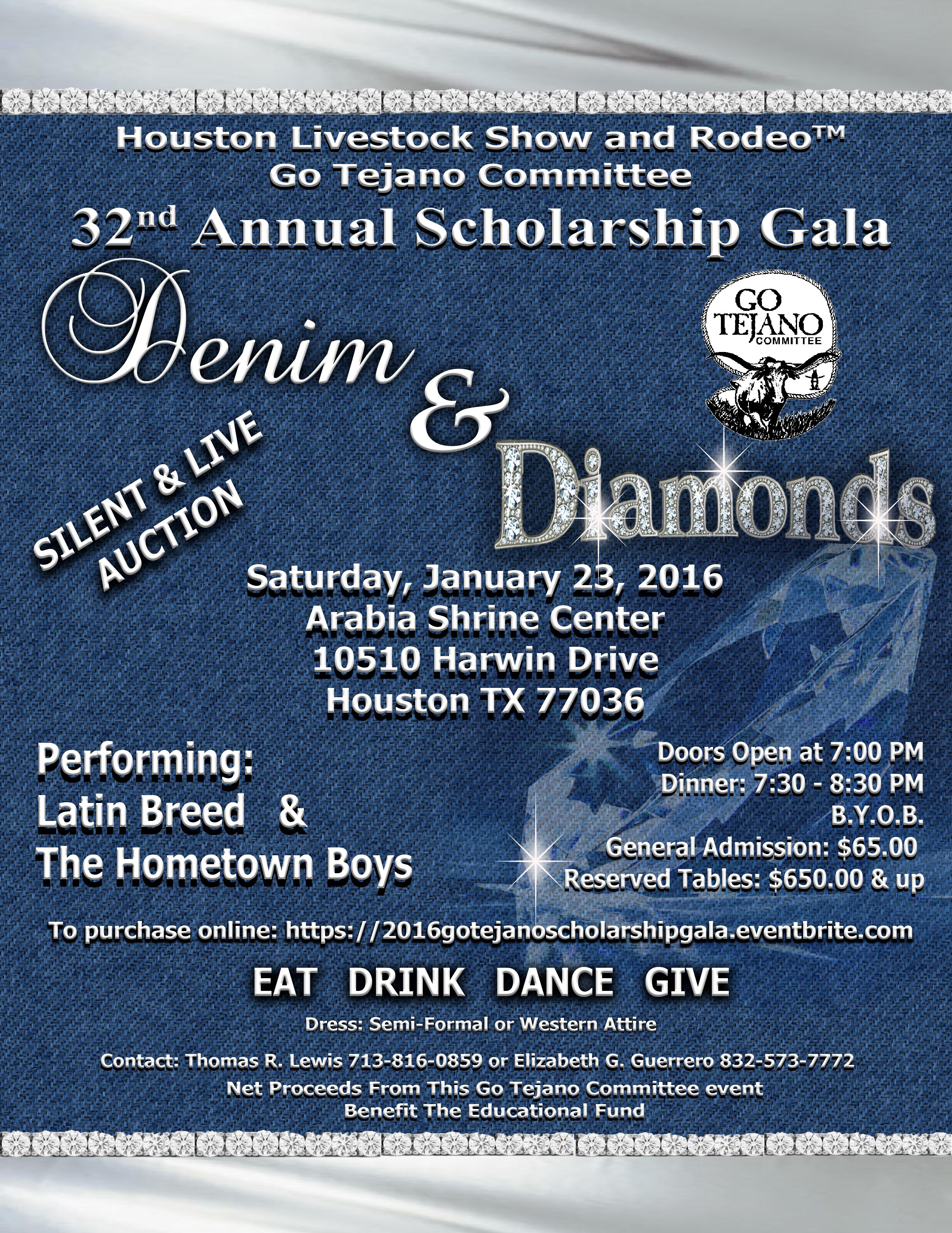 Go Tejano Committee 32nd Annual Scholarship Gala on Saturday, January 23, 2016