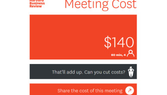 How much did that meeting cost you (in time)?