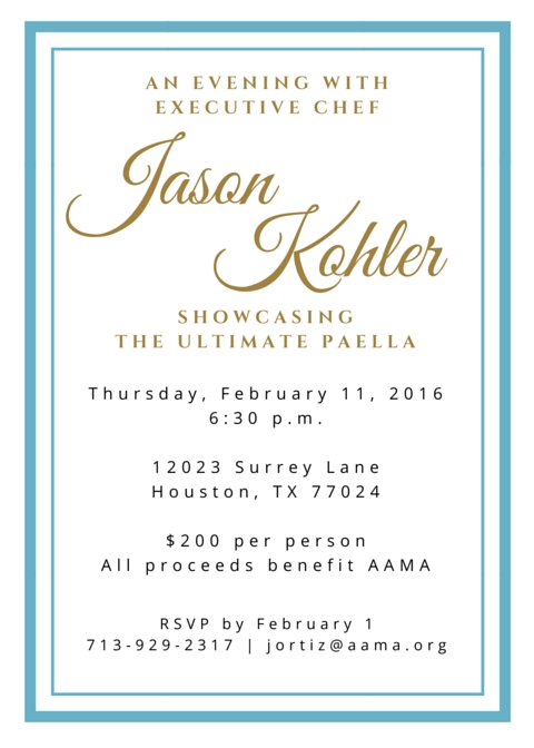 An Evening with Chef Kohler on Thursday, February 11, 2016