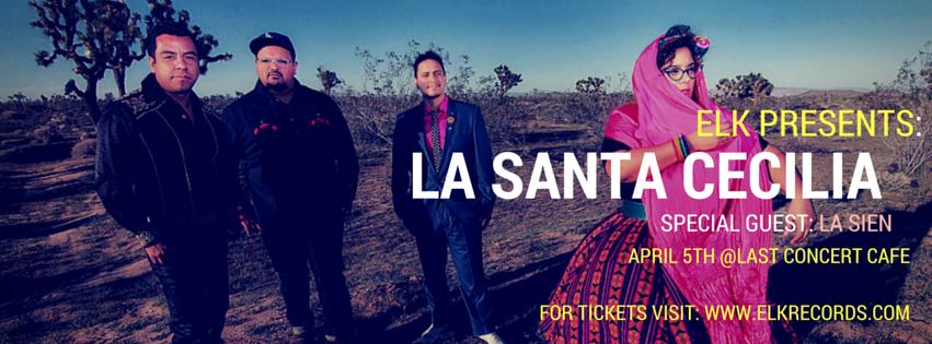 La Santa Cecilia in concert on Tuesday, April 5, 2016