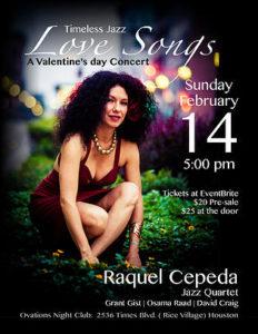 Raquel Cepeda Jazz Quartet in concert on Sunday, February 14, 2016