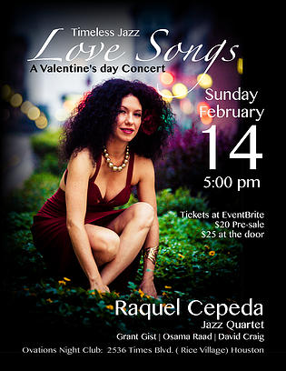 Raquel Cepeda Jazz Quartet in concert on Sunday, February 14, 2016