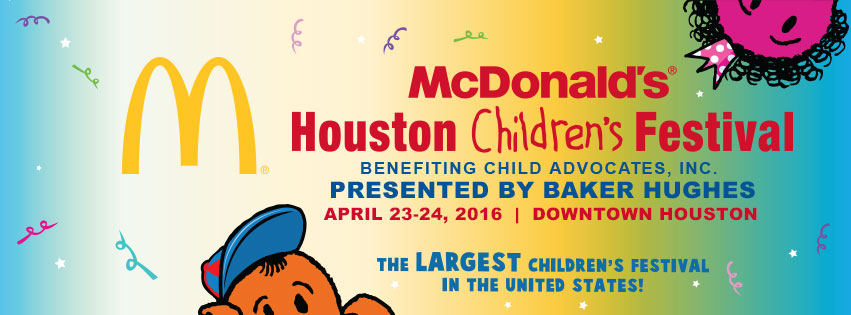 McDonald's Houston Children's Festival 2016 on April 23 & 24, 2016