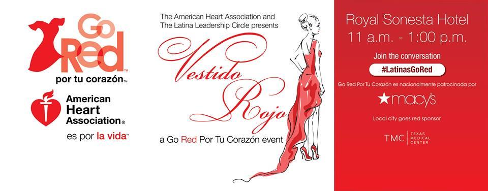 Houston Vestido Rojo, A Go Red Por Tu Corazón Event on Friday, March 4, 2016