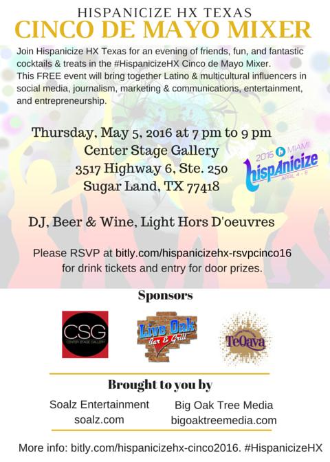#HispanicizeHX cinco de mayo 2016 flyer 3