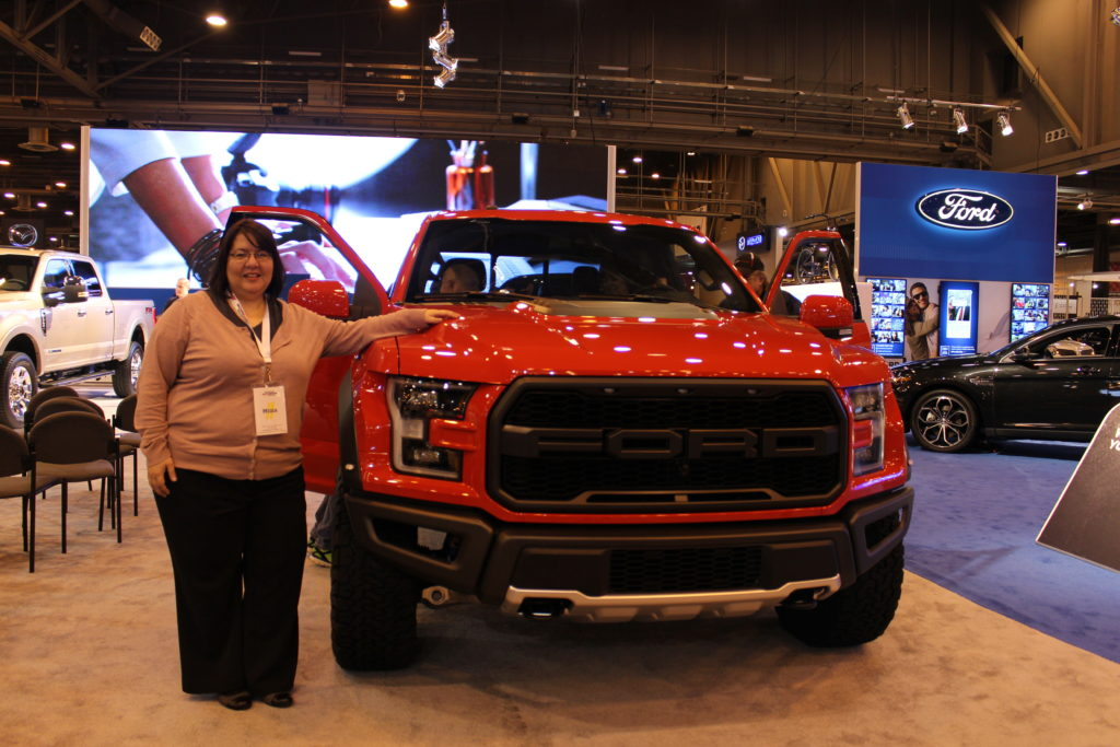 Yep, that's me with the new Ford F-150 Raptor. So pretty. (the truck!)