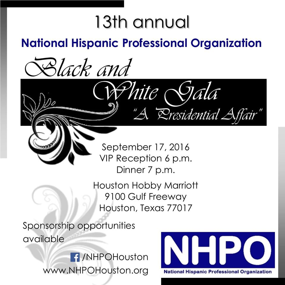NHPO Black & White Presidential Gala 2016 on Saturday, September 17, 2016
