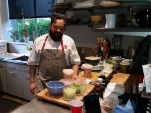 "Making the food 2 (from ""Don Julio Farm to Shaker Event,"" hispanichouston.com)"