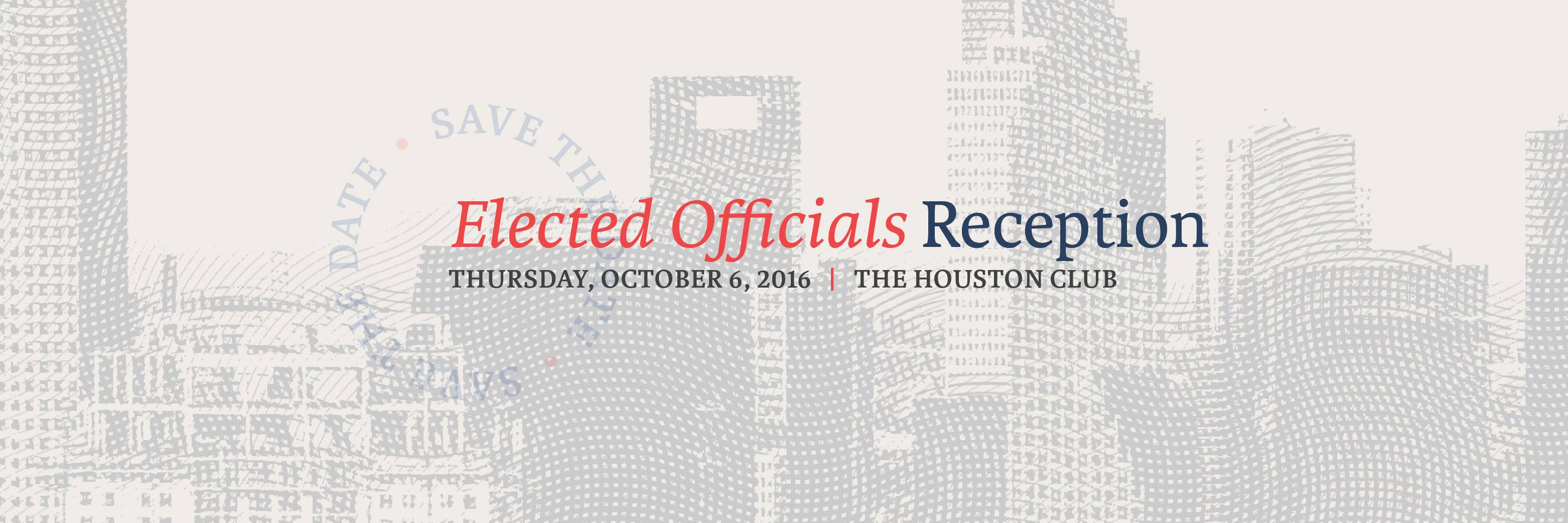 HHCC Elected Officials Reception on Thursday, October 6, 2016