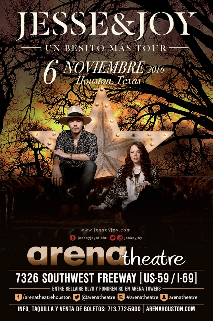 Jesse y Joy: Un Besito Mas Tour 2016 on Sunday, November 6, 2016 (hispanichouston.com)