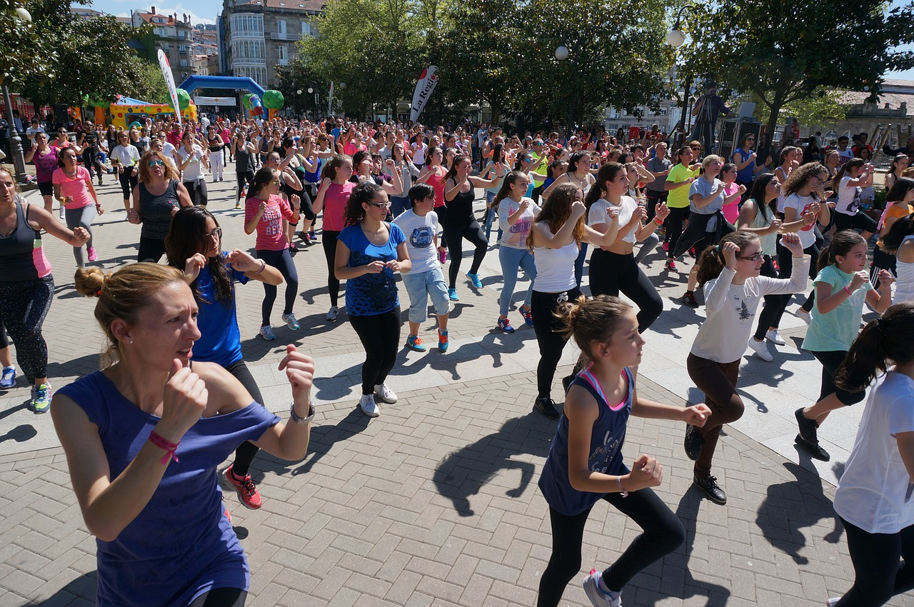 Zumba in the park during June 2017