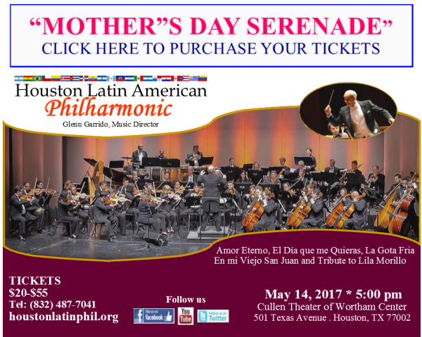 Mother's Day Serenade on Sunday, May 14, 2017