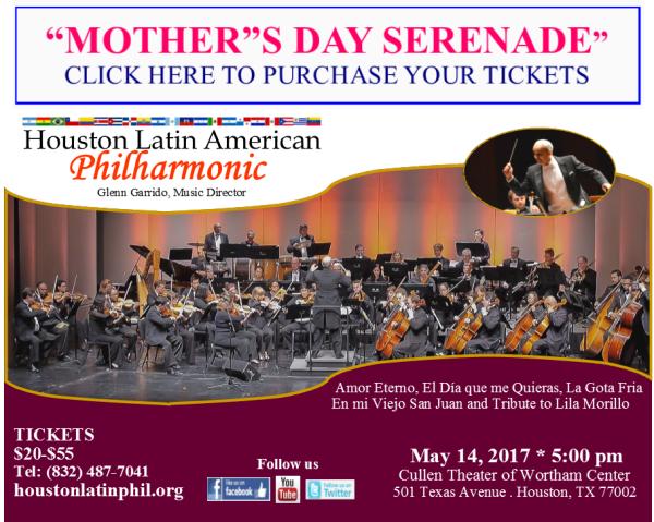 Mother's Day Serenade on Sunday, May 14, 2017 (hispanichouston.com)