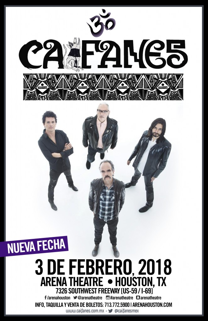 Caifanes in concert on Saturday, February 3, 2018 (hispanichouston.com)