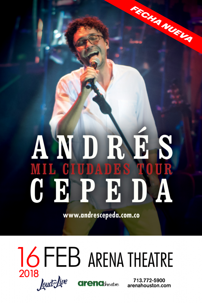 Andres Cepeda in concert on Friday, February 16, 2018 (hispanichouston.com)