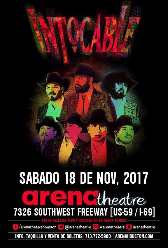 Intocable in concert on Saturday, November 18, 2017 (hispanichouston.com)