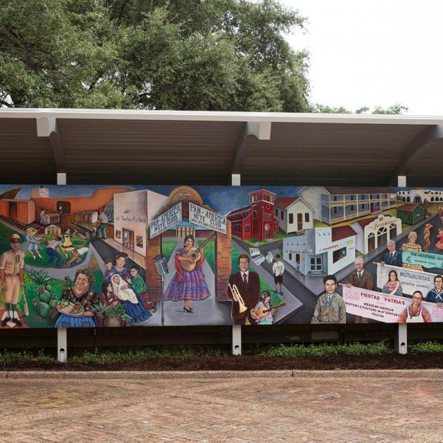 """Mexican-American History and Culture in 20th Century Houston"" Mural"