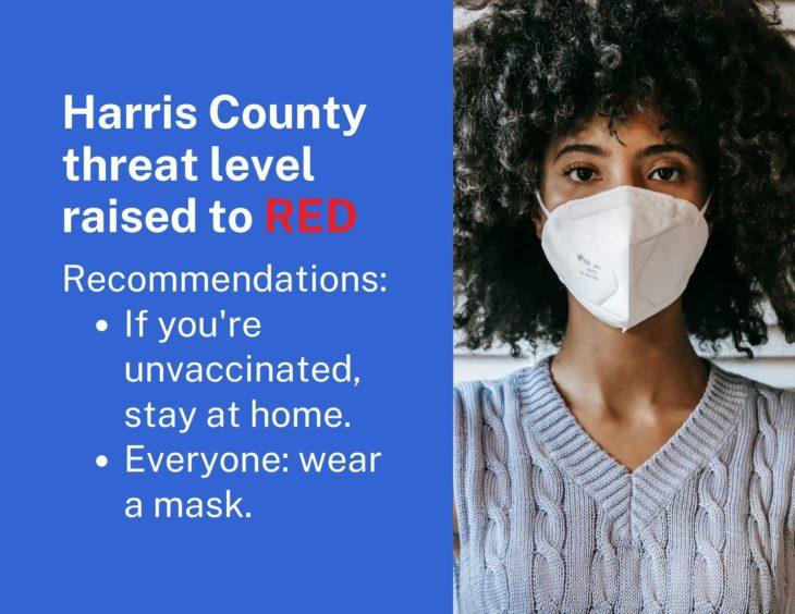 Harris County threat level image